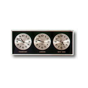 Analog 3 Time Zone Clock 24 Hour Dial Franklin Clocks